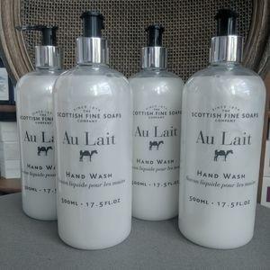4 Scottish Fine Soaps Au Lait Hand Wash 17.5oz